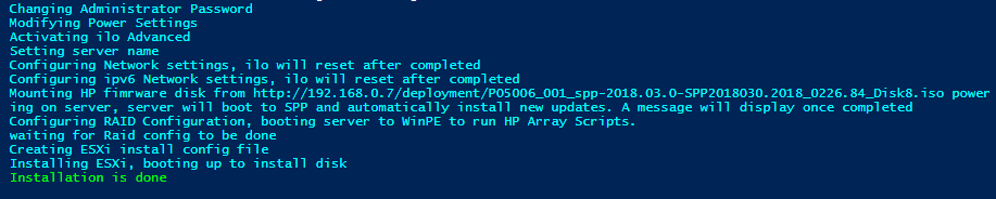 Bare Metal Deployment of ESXi on HP Proliant Hardware: Part 3