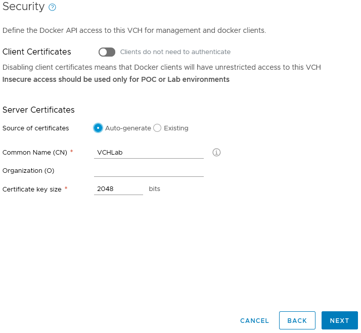 Getting Started with vSphere Integrated Containers in
