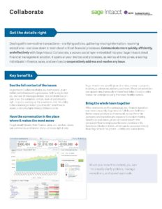 Collaboration Datasheet