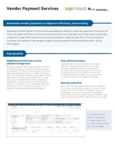 Vendor Payment Services Datasheet