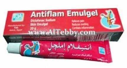 دواء drug أنتيفلام أملجيل Antiflam Emulgel