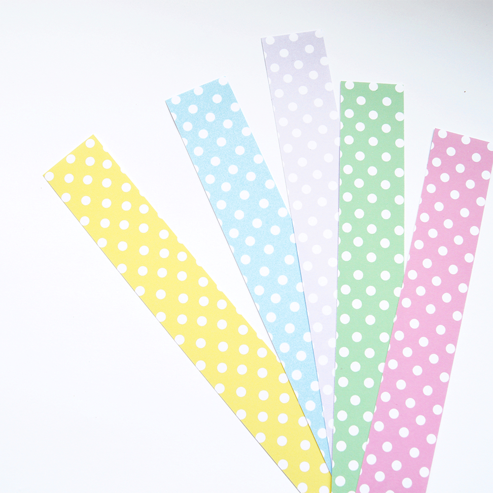 Pastel Polka Dot Paper Chain Kit Altered Chic