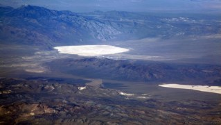 Groom Lake (upper left) and Papoose Lake (lower right) shot in 2010 (courtesy Doc Searls)