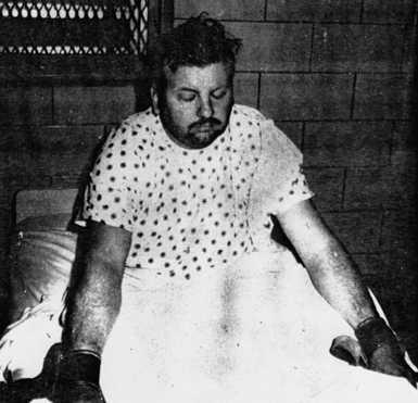 John Wayne Gacy in his prison cell