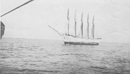 The abandoned Carroll A. Deering ship in the Bermuda Triangle