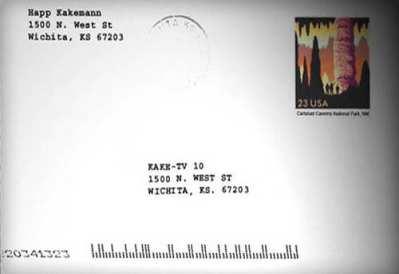 Postcard to KAKE-TV Feb. 3, 2005