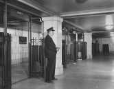 Worker on the Hollywood Subway Terminal in 1946