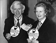 Jimmy Savile with British Prime Minister Margaret Thatcher