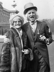 Jimmy Savile with his mother