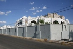 Fortified Mexican drug lord mansion