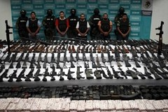 Guns recovered from Mexican drug cartel
