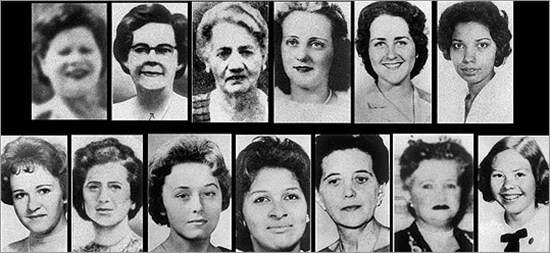 The 13 victims of the Boston Strangler