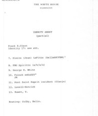 Official document that lists undercover French CIA agenst - Pont St. Esprit mentioned