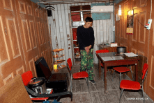 Living inside a Chinese shipping container