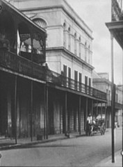 The LaLaurie Mansion (New Orleans) - three story structure in  center of photograph