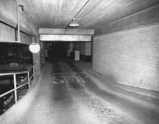 Dallas Police Department (Main Street ramp) showing location where Ruby shot Oswald