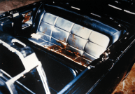 Blood stains in back of Kennedy Limousine