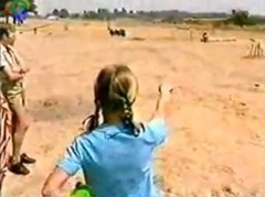 Students point out the direction in which they saw the 1994 Zimbabwe UFO