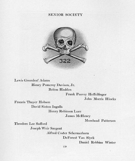 1920's Skull and Bones roster