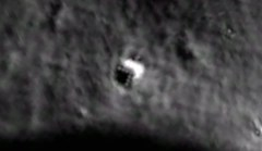 Bizarre wedged-shaped object found on Moon is shaped with seven evenly-spaced light-like dots perfectly aligned in a triangle along its edge