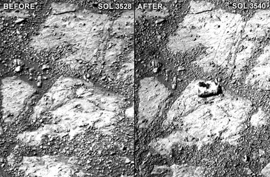 """Mars mystery rock (Pinnancle Island) appears in surface apparently """"out of thin air"""""""