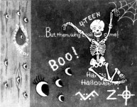Halloween card sent to Paul Avery, reporter for the San Francisco Chronicle on October 27, 1970 (postmarked San Francisco)