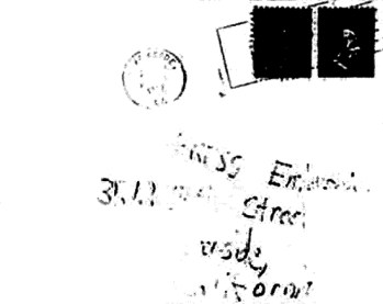 Envelope from Bates letter sent to Riverside Press-Enterprise on April 30, 1967 (postmarked Riverside, California)