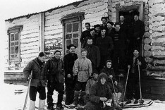 Dylatov Pass expedition team members during their fateful trek