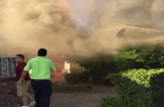 Face of Jesus appears in smoke above burning home in Fresno, California