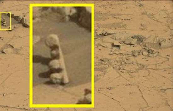 The Martian totem pole - unusually shaped object found on Mars surface