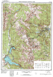 Topograph map of area Forrest Fenn's treasure is believed to be hidden in