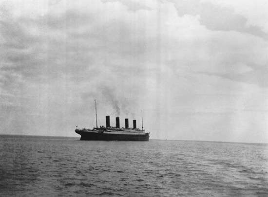The last known photo of the Titanic – 1912.