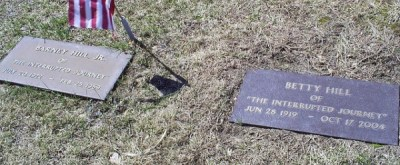 Barney and Betty Hill gravestone markers