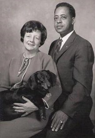 Betty and Barney Hill and their dog Delsey