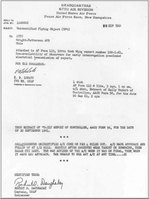 Official Betty and Barney Hill case documentation