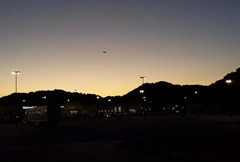Photo from parking lot of Butterfly-UFO in New Boston, Ohio