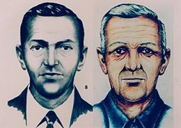Sketch of D.B. Cooper with age regression