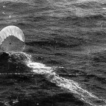 A downed Japanese Fu-Go (Fire) balloon in the Pacific Ocean