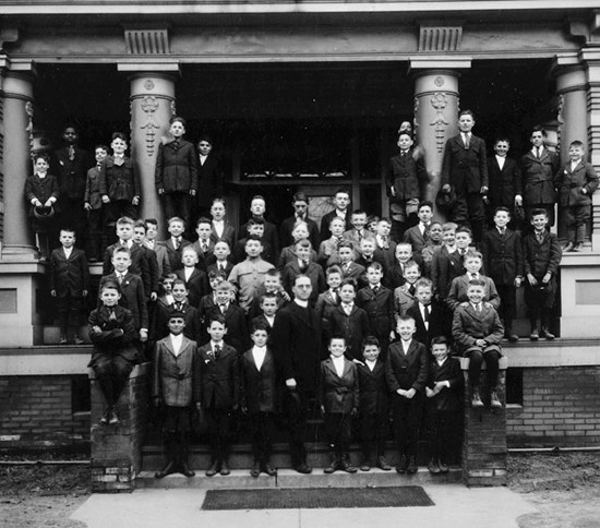 Father Flanagan and the original boys from Boys Town
