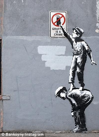 Graffiti is a crime Banksy art