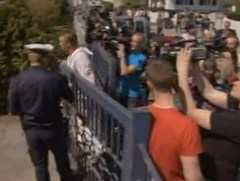 Hordes of reporters outside the home after the story first broke