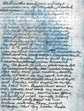 """Page one of the Golden State Killer """"homework assignment"""""""