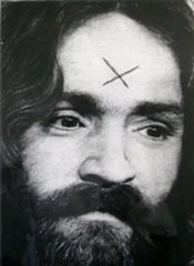 """Charles Manson - """"X"""" carved into his forehead"""