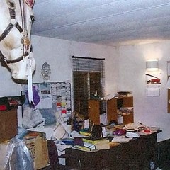 "Robert Pickton's office - ""a pigsty"""