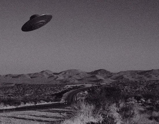 UFO over Mojave Desert, California.