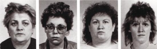 The four Lainz Angels of Death nurses - Stefanija Mayer, Waltraud Wagner, Maria Gruber, Irene Leidolf