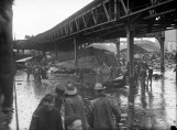 Steel girders twisted by the Great Molasses Flood in Boston