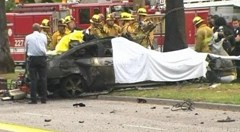 Michael Hastings' burned up Mercedes C250 Couple