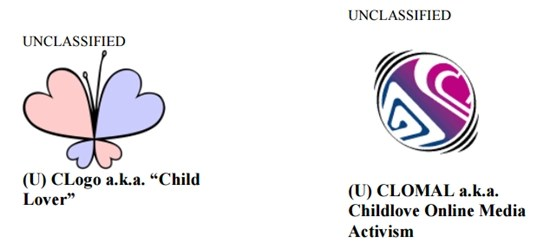 Graphic from FBI's Symbols and Logos used by pedophiles to identify sexual preferences