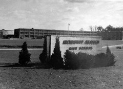 Archbishop Keough High School sign in early 1970's